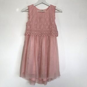 Btween girls 14 pink lace dress
